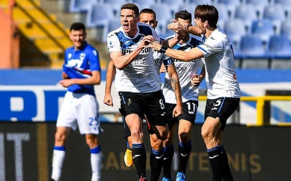 SAMPDORIA 0-2 ATALANTA: BAY VÀO TOP 4